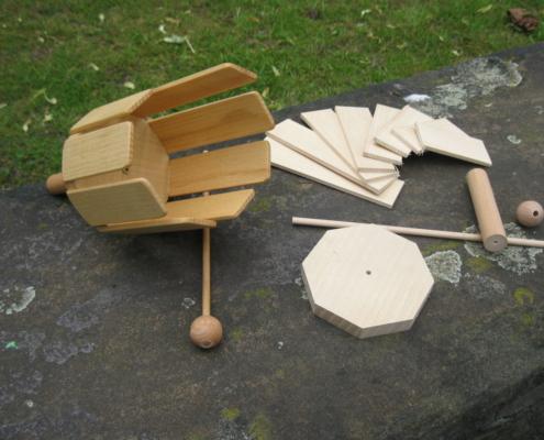 Rührxylophon Rührtrommel und Bausatzmaterialien