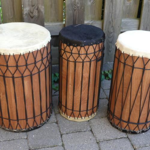 Basstrommel-Set, Kenkeni,Sangba, Doundounba