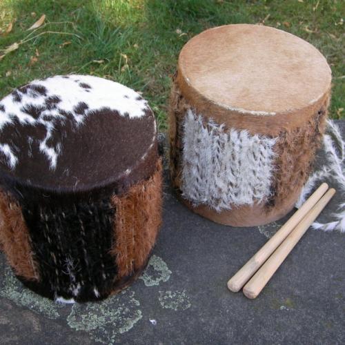 Mini-Suaheli-Trommel aus Tansania, Ostafrika