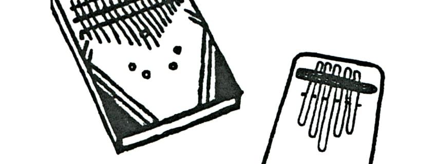 Zeichnung StuderKlang Daumenklaviere