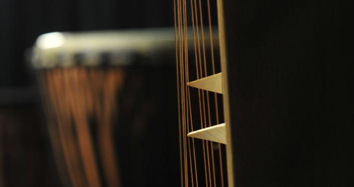 Monochord und Trommel