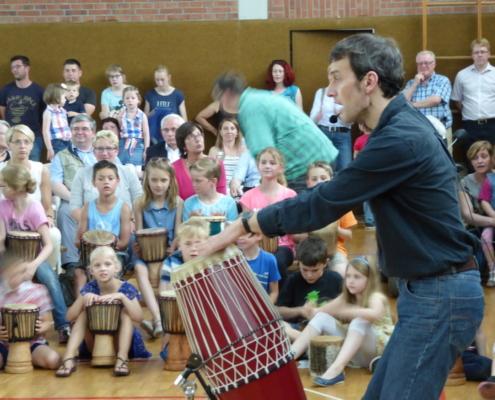 Trommelfinale in einer Grundschule, Trommelfieber-Projekttag