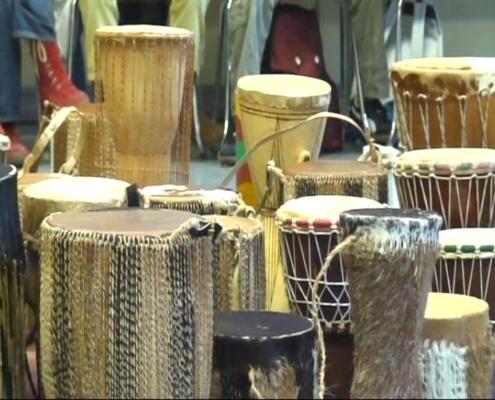 Verschiedene afrikanische Trommeln